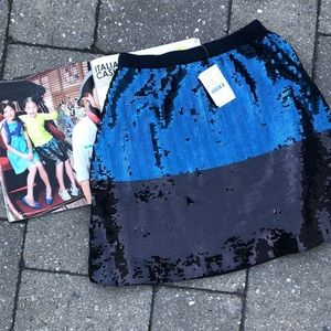 J. Crew Crewcuts Sequin Navy Colorblock Skirt Girl